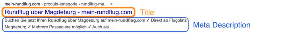 seo title und meta description