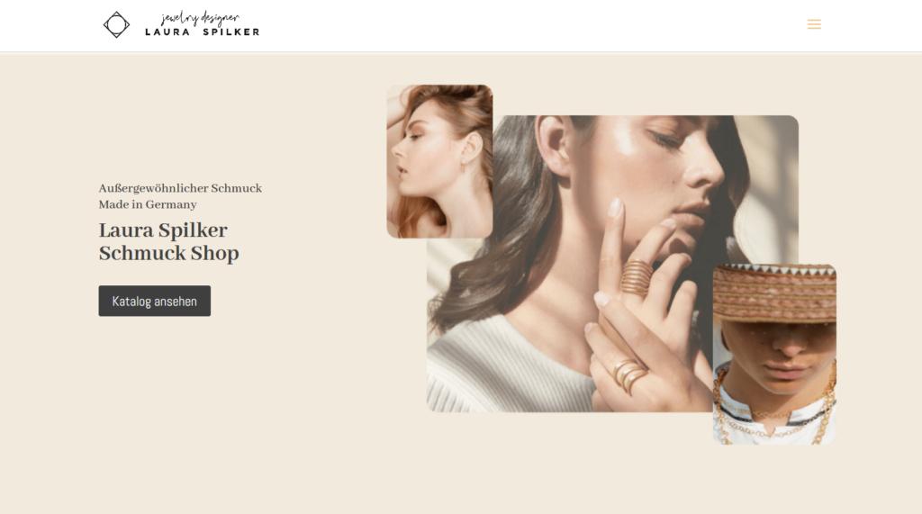 Laura Spilker Schmuck Onlineshop Screenshot