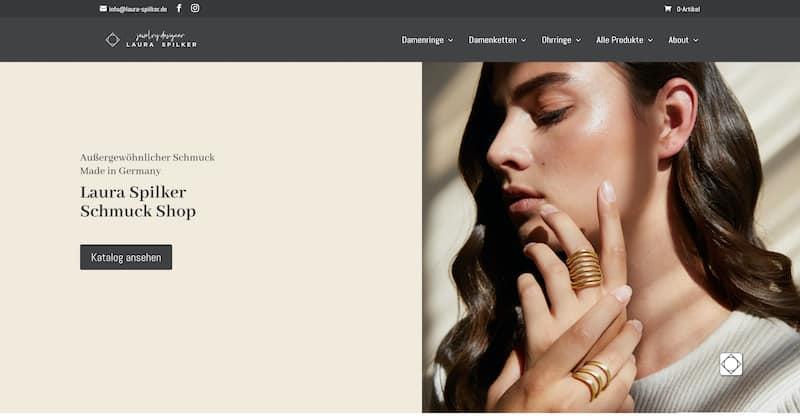 laura spilker website screenshot